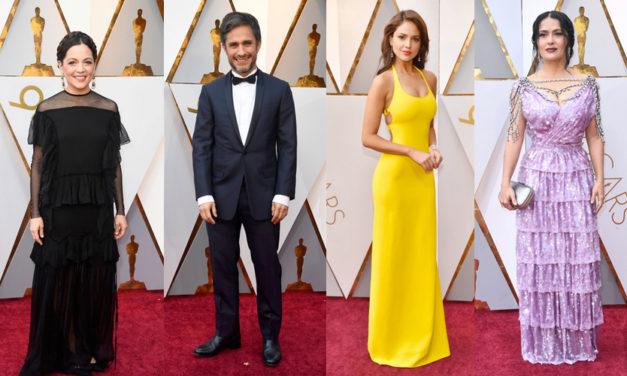 Que guapos los mexicanos en la alfombra roja del Oscar