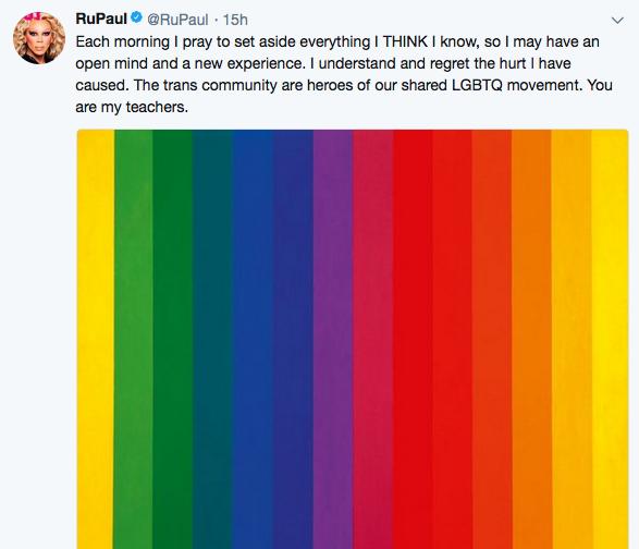 Del twitter de RuPaul