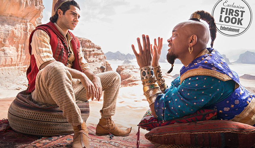 Ya salieron las primeras imágenes de Aladdin