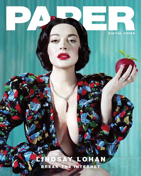 Lindsay Lohan como Blanca Nieves para Paper