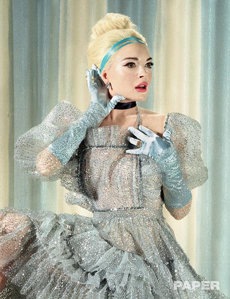 Lindsay Lohan como Cenicienta para Paper