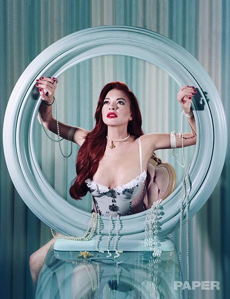 Lindsay Lohan como La Sirenita para Paper