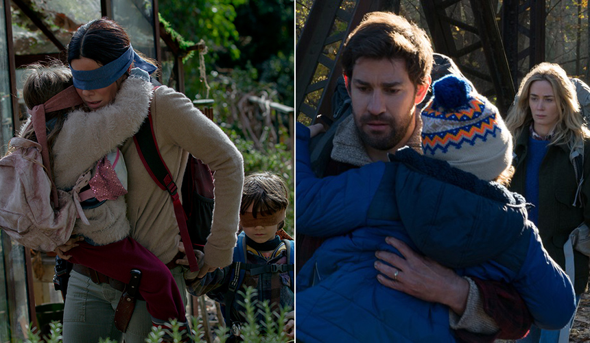 Pelis para no salir de casa: Bird Box vs A Quiet Place