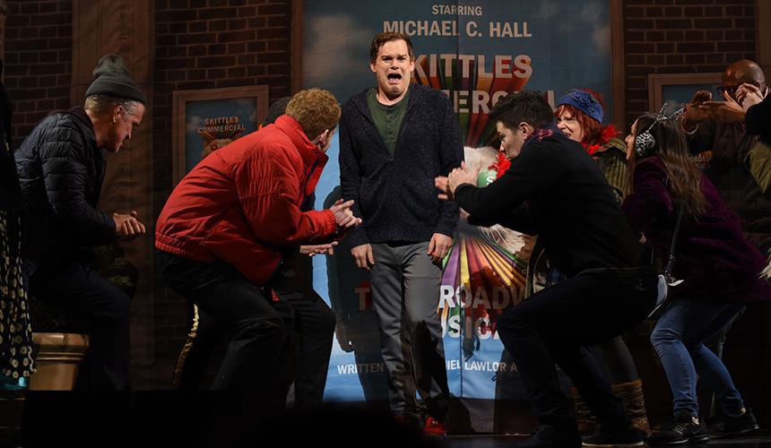Una canción del musical de Skittles en Broadway