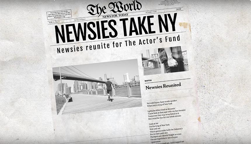 Los Newsies se reencuentran para bailar seize the day