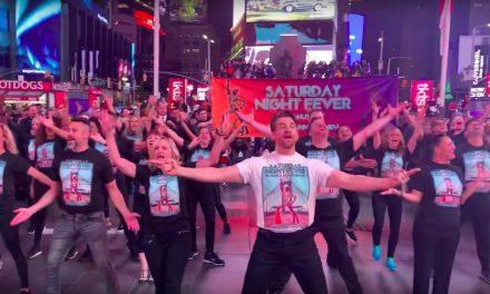 Así se vivió el flash mob de Saturday Night Fever en NY