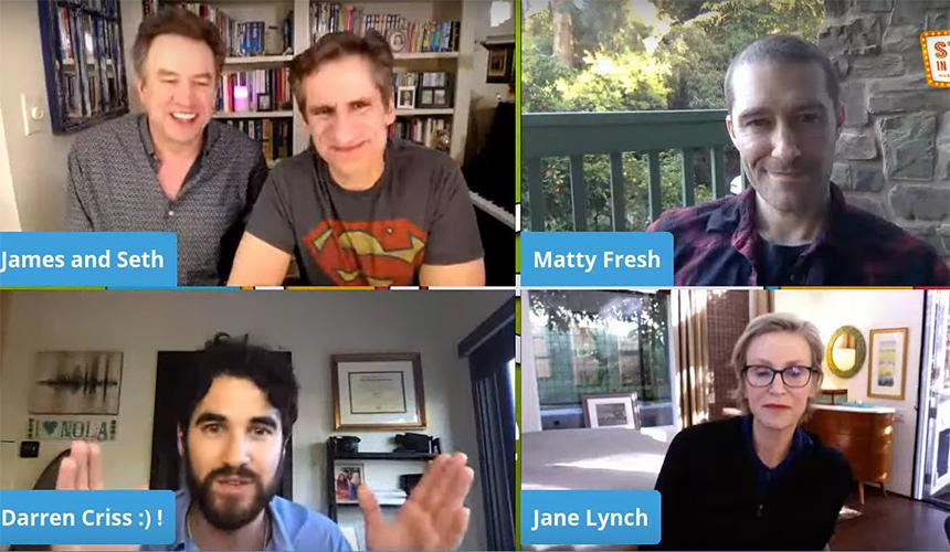 Los de Glee tuvieron una reunión virtual